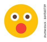 shocked emoji | Shutterstock .eps vector #664560739