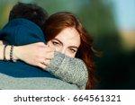 summer holidays  love  romance...   Shutterstock . vector #664561321