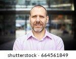 portrait of pleasant... | Shutterstock . vector #664561849