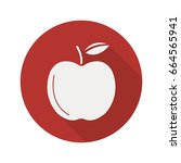 apple flat design long shadow...   Shutterstock .eps vector #664565941