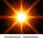 burst with red color background.... | Shutterstock . vector #664566061