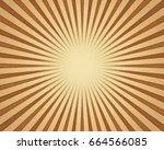 sun burst background. vintage...   Shutterstock . vector #664566085