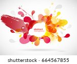 abstract colored flower... | Shutterstock .eps vector #664567855