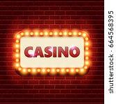 casino retro banner template...   Shutterstock .eps vector #664568395