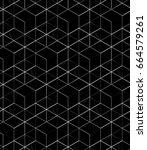 white linear mesh pattern on a... | Shutterstock . vector #664579261