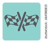 race flag for car racing icon | Shutterstock .eps vector #664580815