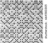 dice background | Shutterstock . vector #664583305