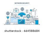 network security  personal data ... | Shutterstock .eps vector #664588684