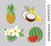 set of vector illustration... | Shutterstock .eps vector #664593115