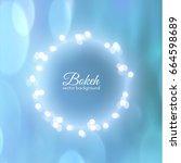 bokeh vector background with... | Shutterstock .eps vector #664598689