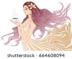 vector illustration of a... | Shutterstock .eps vector #664608094