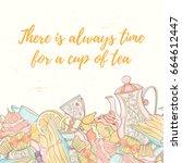 Tea Time Invitation Card....