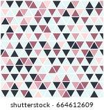 modern seamless triangle... | Shutterstock .eps vector #664612609