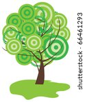 abstract green tree | Shutterstock .eps vector #66461293