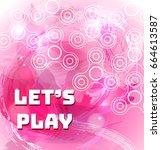 fidget spinner watercolor pink... | Shutterstock .eps vector #664613587