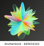 abstract colored splash. | Shutterstock .eps vector #664616161