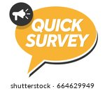 quick survey badge with... | Shutterstock .eps vector #664629949