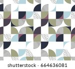 geometrical creative pattern | Shutterstock .eps vector #664636081