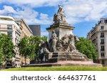 louis pasteur monument. in 1904 ... | Shutterstock . vector #664637761