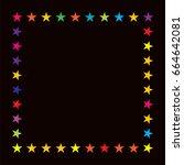 vector jolly starry border in... | Shutterstock .eps vector #664642081