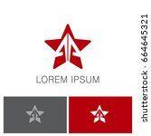star arrow business logo | Shutterstock .eps vector #664645321