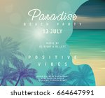 beach party invitation | Shutterstock .eps vector #664647991