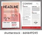 vector flyer  corporate... | Shutterstock .eps vector #664649245