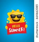 hello summer  suitable for... | Shutterstock .eps vector #664662085