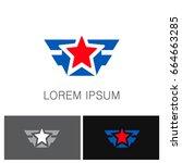 star wing vector logo | Shutterstock .eps vector #664663285