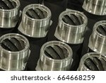 metal industry  a factory in... | Shutterstock . vector #664668259