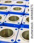 metal industry  a factory in... | Shutterstock . vector #664668271