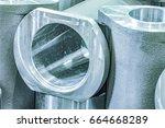 metal industry  a factory in... | Shutterstock . vector #664668289