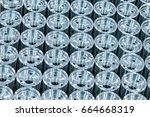 metal industry  a factory in... | Shutterstock . vector #664668319