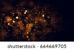 gold abstract bokeh background. ... | Shutterstock . vector #664669705