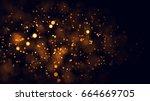 gold abstract bokeh background. ... | Shutterstock . vector #664669705