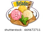 helados   mexican or spanish... | Shutterstock .eps vector #664672711