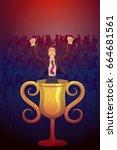 businessman with sense of... | Shutterstock .eps vector #664681561