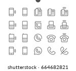 phones ui pixel perfect well... | Shutterstock .eps vector #664682821