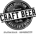 craft beer available here bar... | Shutterstock .eps vector #664686559
