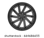black car wheel in white... | Shutterstock . vector #664686655