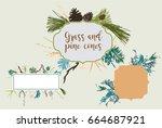 borders for text. frames for... | Shutterstock .eps vector #664687921