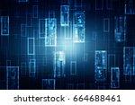 2d illustration technology... | Shutterstock . vector #664688461