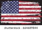 grunge american flag.vector... | Shutterstock .eps vector #664689844