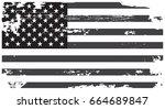 grunge american flag.vector... | Shutterstock .eps vector #664689847