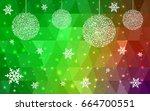 light green red christmas... | Shutterstock .eps vector #664700551