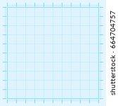 blue graph paper coordinate... | Shutterstock .eps vector #664704757