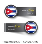 flag icon and label with text... | Shutterstock .eps vector #664707025
