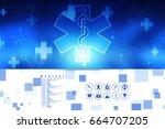 2d illustration medicine... | Shutterstock . vector #664707205