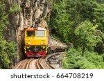 attractions vehicles   train... | Shutterstock . vector #664708219