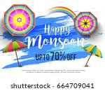 illustration sale banner sale... | Shutterstock .eps vector #664709041